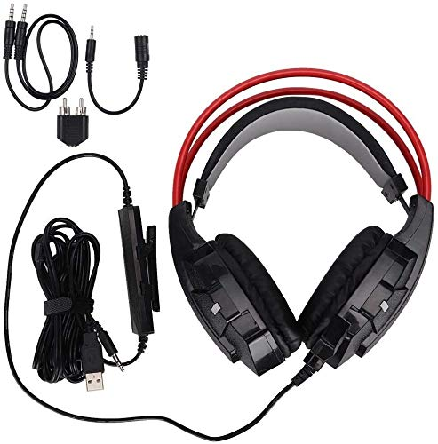 Syyyin Gaming Headset, 3.5mm Hanno Fissato HD Voice Cuffie con Microfono for PC / PS3 / for PS4 / for Xbox 360 / Xbox One Console da Gioco