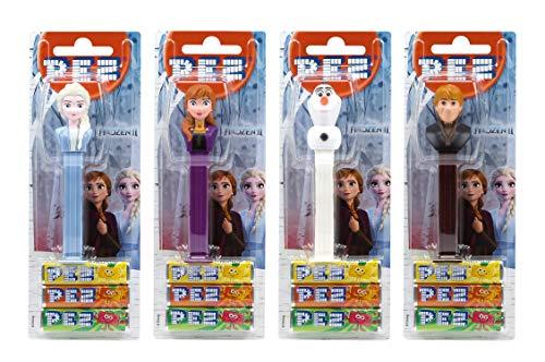 PEZ Spender Set Frozen (4 Spender mit je 3 PEZ Bonbons á 8,5g) + 2 Nachfüllpacks (8 PEZ Bonbons á 8,5g)