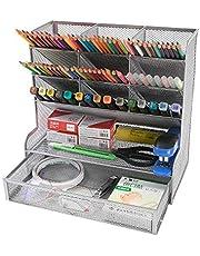 Siatkowy organizer na biurko Wielofunkcyjny biurkowy pojemnik na długopisy do domowego biura szkolny stojak do przechowywania
