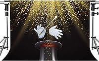 写真のためのHDマジックショーの背景散在する花火完璧なマジックショーの背景ハリウッドスタジオ写真写真の小道具7x5ftHXMT051