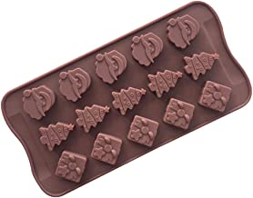 Christmas Silicone Molds Chocolate Candy Gummy Ice Cube Trays Baking Jelly Moulds Cake Decoration