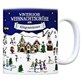 trendaffe - Klingenmünster Weihnachten Kaffeebecher mit winterlichen Weihnachtsgrüßen - Tasse, Weihnachtsmarkt, Weihnachten, Rentier, Geschenkidee, Geschenk