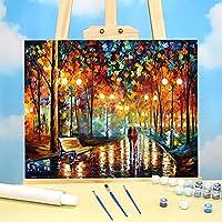 レインラスルペイントバイランダヌクリオットオイル塗料40 * 50塗装キャンバスホーム装飾工芸品大人の手工芸品描画 (Color : 42 colors 50x70cm)
