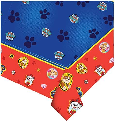 CAPRILO Lote de 2 Manteles Decorativos Infantiles para Mesas Patrulla Canina 120 x 180cm. Regalos Fiestas de Cumpleaños, Bodas, Bautizos, Comuniones y Eventos. Decoración Hogar.