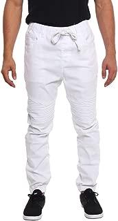 twill biker pants