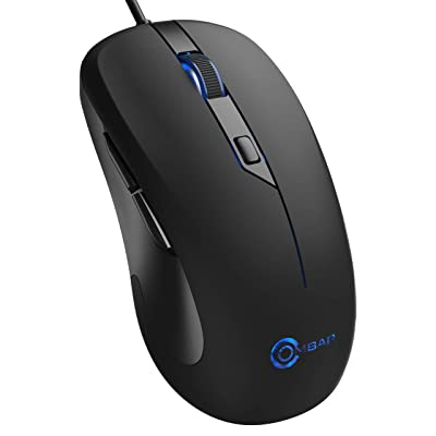 Gaming Mouse Wired, OMBAR 6 Buttons 4 DPI Adjus...