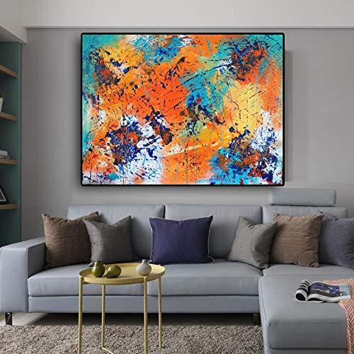 Cantante Arte Abstracto Lienzo Abrazo Caliente Graffiti Art Imagen de la Pared para Sala de Estar decoración del hogar Pintura sin Marco 50cmX75cm