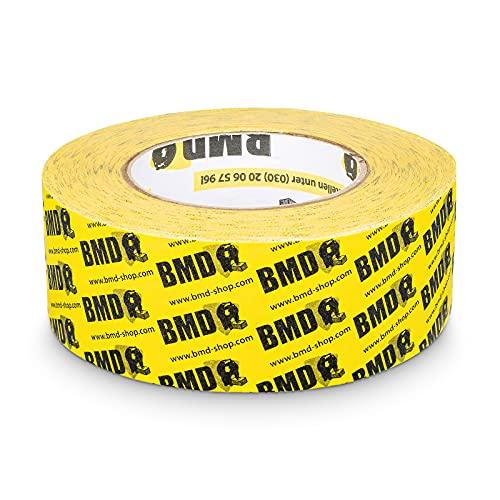 BMD - cral Hochleistungsklebeband (Gelb - 50mm x 40lfm) zur Verklebung von Dampfsperrfolie Dampfbremsfolie nach DIN Norm 4108 Teil 7