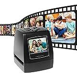 xxz Escáner de película Negativa Protable, convertidor de películas de Diapositivas Todo en uno de Alta resolución con Software de edición Incorporado Pantalla LCD 2.4, para la Familia