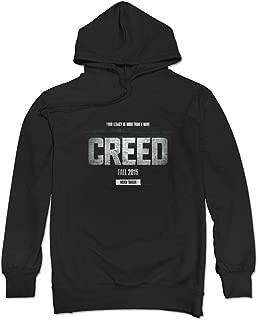 DAVID Men's Creed Logo Michael B. Jordan Hoodies Black