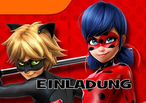 TV-24 Miraculous Ladybug Einladungskarten 12er Set inkl. 12 Umschläge E6