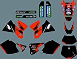 0262 3M personalizado Motorcross gráficos motocicleta pegatinas kit para EXC 125 200 250 300 380 400 1998 1999 2000 modelos de tamaño completo