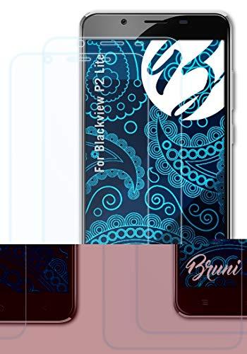 Bruni Schutzfolie kompatibel mit Blackview P2 Lite Folie, glasklare Bildschirmschutzfolie (2X)