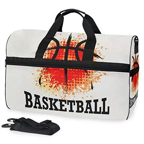 Oarencol Fashion Cool Basketball Aquarell Reisetasche Reisetasche mit Schuhfach für Damen und Herren