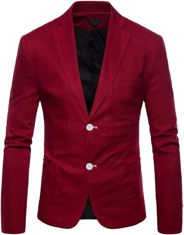 42ccc8e99269 Men's Notched Lapel Classic Fit Suit Jacket Lightweight Cotton Cotton  Cotton Blazer b479ce