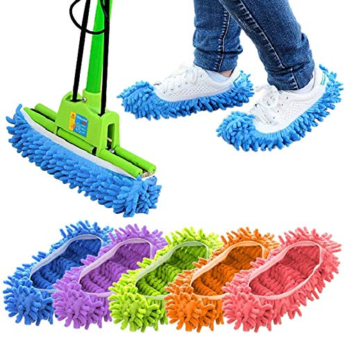 Cosywell Mop Slippers Shoes Cover Dust Duster Slippers Cleaning Floor House Washable 10 PCS 5 Pairs
