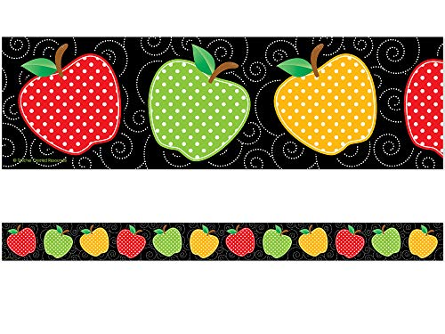 Teacher Created Resources Dotty Apples Straight Border Trim (5637)