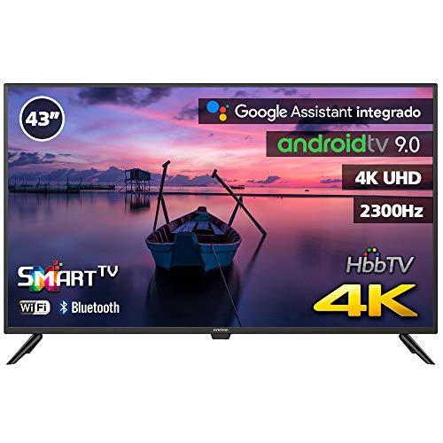INFINITON INTV-43MA1300 – Televisor Smart TV 43  4K UHD – Android 9.0 Google – HBBTV – 4X HDMI – 3X USB - DVB-T2 C S2 - Modo Hotel – Clase A+