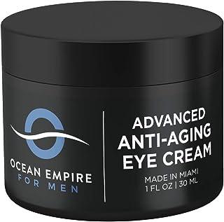Advanced Men's Eye Cream - Made in USA - Anti Aging Cream for Wrinkles, Dark Under Eye Circles, Eye Bags & ...