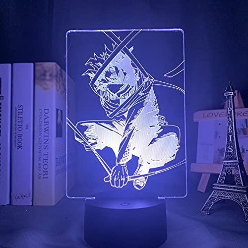 HSHHJSH Lámpara 3D LED Luces nocturnas para la decoración del hogar Regalo de cumpleaños Manga Gadget Shota Aizawa Light (Color : 7 Colors no Remote)