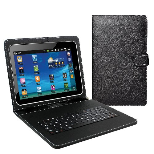 SuperSonic - 9' Tablet Keyboard and Case, Tablet Accessories - Black (SC-309KB)