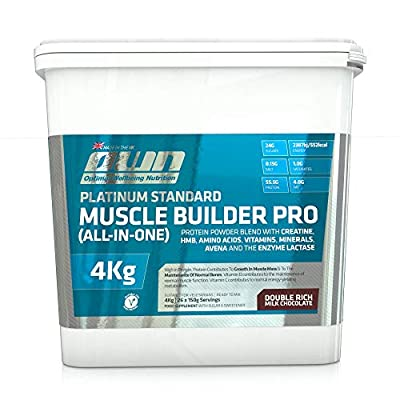 OWN - Platinum Standard Muscle Builder Pro All-in-One Lean Muscle Fuelling Gainer, Chocolate Flavour, 4kg from Optimal Well-being Nutrition