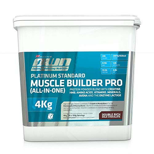 OWN - Platinum Standard Muscle Builder Pro All-in-One Lean Muscle Fuelling Gainer, Chocolate Flavour, 4kg