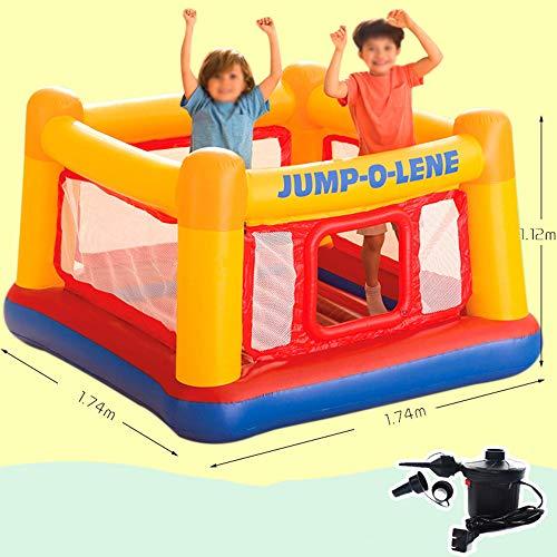 DEAR-JY Castillo Hinchable,174×174×112CM,Centro de Actividades del Parque de Atracciones Small Trampoline Toys para niños,Parque Inflable del Castillo para niños de Interior y Exterior