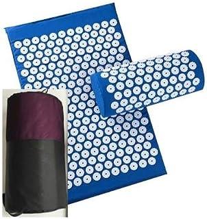 GreenDesert Non-slip acupressure pad, used for massage, body pain, fitness, Pilates, exercise, yoga mat, gift bag-blue