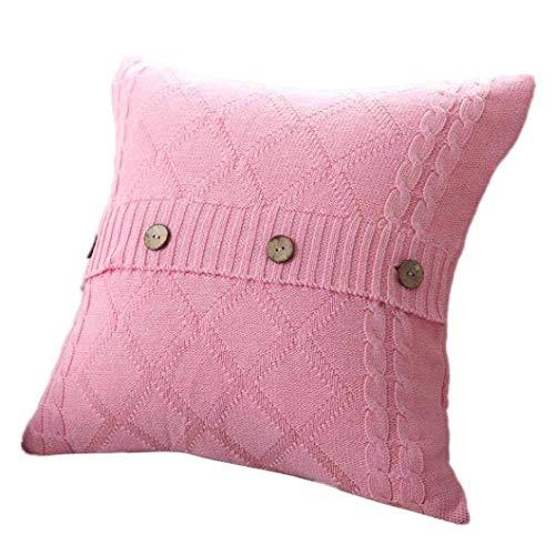 Pingrog Gebreid hoeslaken voor thuis, sofakussensloop, eenvoudige stijl, moderne hoge bekleding, zacht katoen