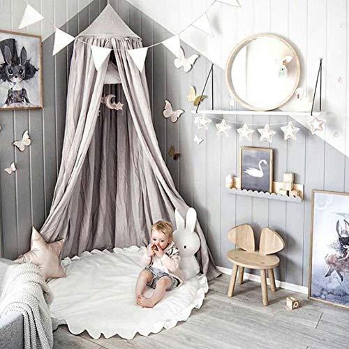 Homieco Runden Teppich Süss Baby Spielmatte Kind Matte cartoon Farbe weich komfortabel PSpielmatten Baby Raumdekoration, weiß