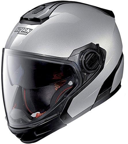 Nolan Herren Casque N40 5 Gt Spécial N-com Salt Silver 11 Helmet, Silber, M (57/58)