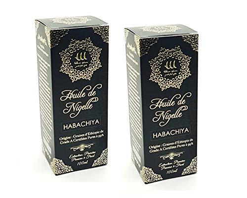 [ Premium Qualität ] Schwarzkümmelöl 2x100ml 99 Hergestellt aus 99% reinem Samen der Sorte A (Äthiopien) | Keine chemische Behandlung | Lebensmittelqualität und Kosmetik | Ideal zu bieten