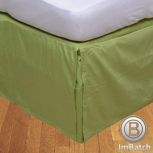 RoyalLinens 500tc 100% algodón Egipcio Elegante Acabado 1Pieza faldón Plisado de Caja sólido (Drop Longitud: 14cm), algodón, Sage Solid, EU Super King