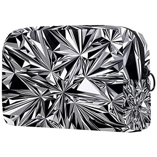 Bolsa de maquillaje de viaje de diseño único bolsa de maquillaje para mujeres y niñas gafas irregulares geométricas