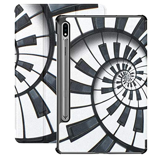 Piano And Piano Keyboards Tablet Case For Samsung Galaxy Tab S7/s7 Plus Tablet Case 7 Inch Stand Back Cover Tablet Case For Galaxy Tab S7 11 Inch S7 Plus 12.4 Inch
