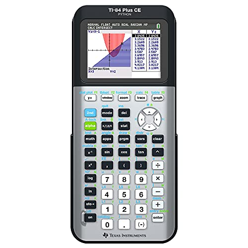 Texas Instruments TI-84 Plus CE Color Graphing Calculator, Galaxy Gray...