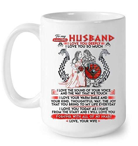 N\A To My Amazing Husband Mug, I Love You Deeply Coffee Mug, Esposo