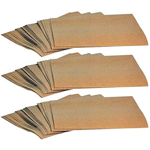 90 Stück Bogen Schleifpapier 230 x 280 mm Holz Metall Lack K80 K120 K150 Sandpapier