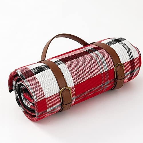 OUMIFA Outdoor Portable Regular discount Translated Thicken Plaid Waterproof Picnic 2x2m Mat