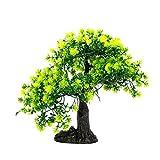 QULONG Decoración de jardín de Acuario Decoración de pecera Árbol de bonsái - Árbol de Pino Artificial Decoración de Planta de plástico para Adorno de bonsái de Acuario Árbol de Paisaje de artesaní