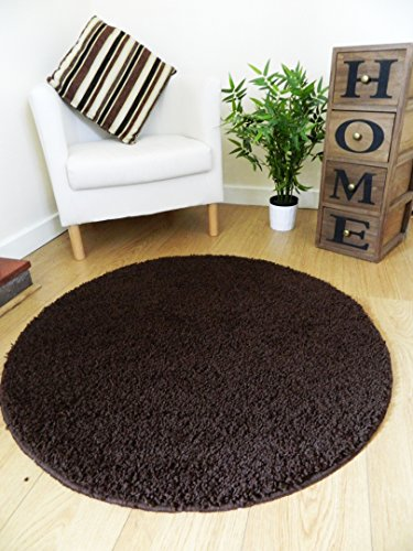 Rugs Superstore New Chocolate Marrón Shaggy Alfombras se Puede Lavar a máquina...