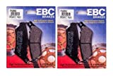 EBC Kevlar Organic Front Brake Pads (2 Sets) for Both Calipers 2008-2011 BMW F800GS / FA209/2