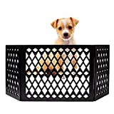 Short Dog Gate   Freestanding Decorative Pet Gates   Foldable Gate   Dog Gate for Doorways