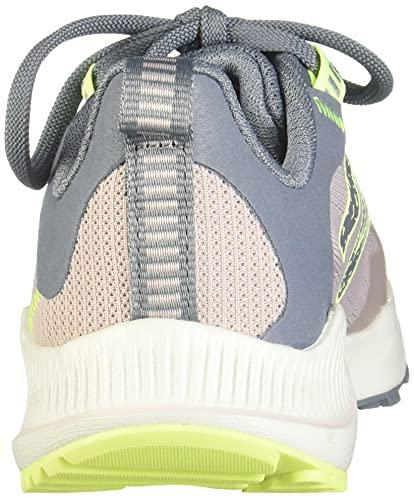 New Balance Women's DynaSoft Nitrel V4 Trail Running Shoe, Logwood/Ocean Grey/Bleached Lime Glo, 8