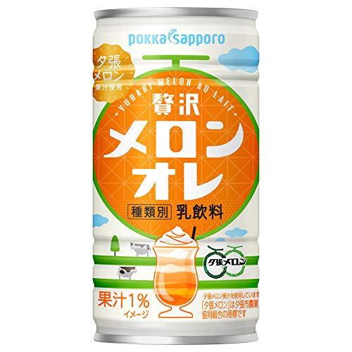 ポッカサッポロ 贅沢メロンオレ 190g缶×30本入
