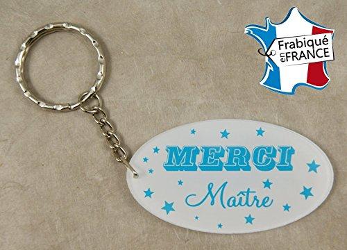 Porte Clef Merci Maître - Le Cadeau Original de Fin d'Année Scolaire. L'école est finie ! Vive les Vacances !