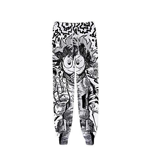 Anime Pantalons de Sport Jogging Cosplay Bas de Survêtement Sweatpants Trousers avec Poches Homme Dame Casual Pants My Hero Academy, Style J-L