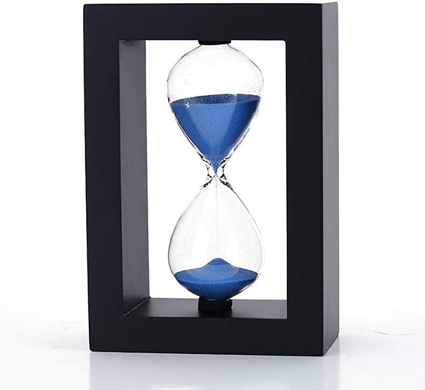 Wood Frame Hourglass Sand Timer 20 Minutes