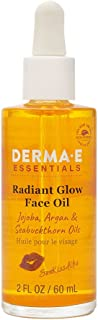 DERMA E SunKissAlba Radiant Face Glow Oil, 2 oz - Signature antioxidant-rich facial oil with Jojoba, Argan, and Seabucktho...